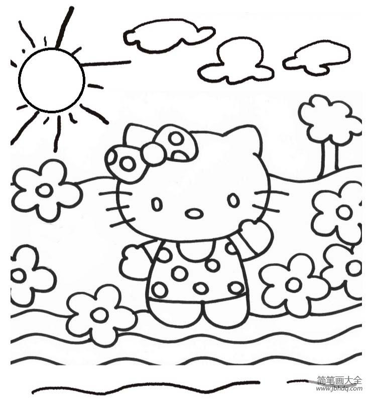 怎么画凯蒂猫动漫人物简笔画|怎么画凯蒂猫,动漫人物简笔画画法