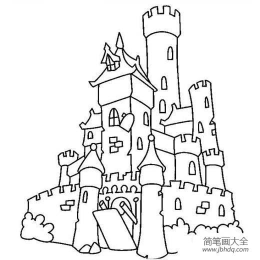【建筑简笔画大全图片】建筑图片,古堡简笔画图片