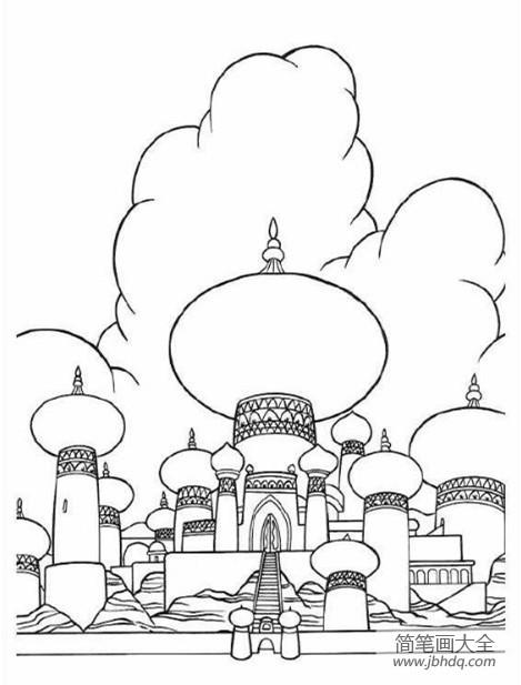 建筑图片精美的城堡简笔画图片大全_建筑图片,精美的城堡简笔画图片
