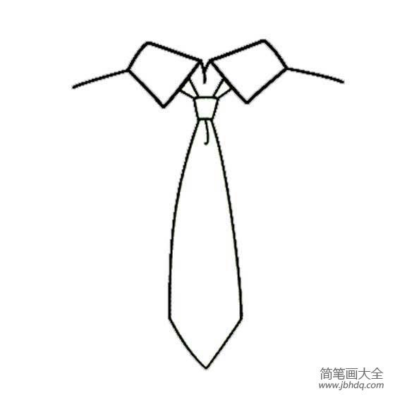 [领带图片简笔画]领带简笔画教程