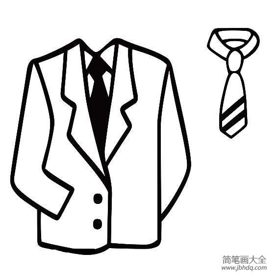 [领带简笔画图片大全]西服领带简笔画图片