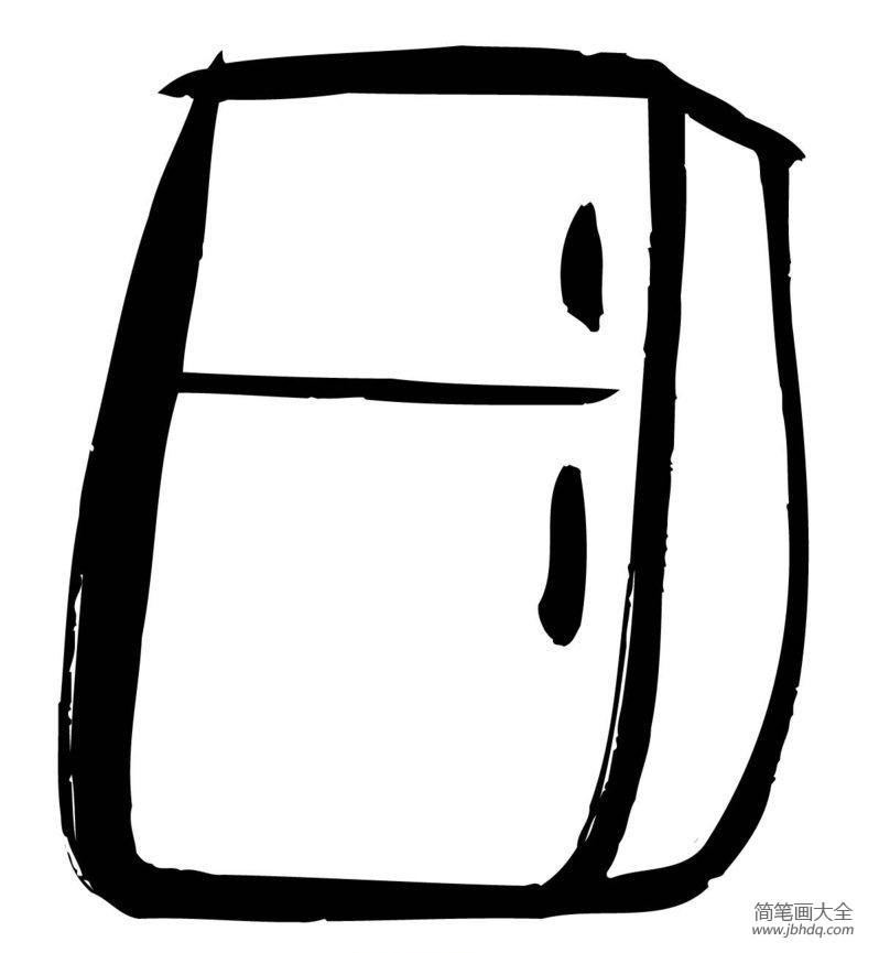冰箱简笔画图片大全_小学生冰箱简笔画图片