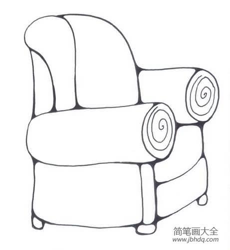 沙发的简笔画图片|小学生沙发简笔画图片