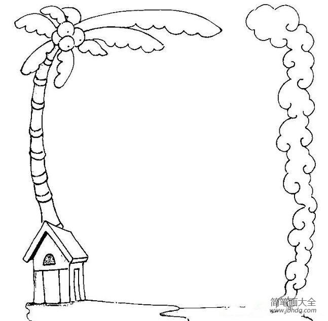 [椰子树图片简笔画]幼儿园椰子树简笔画