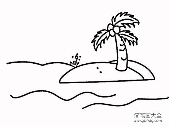 椰子树简笔画图片大全|椰子树简笔画大全