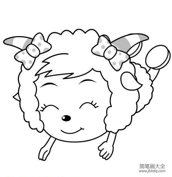 [美羊羊图片简笔画]美羊羊和懒羊羊的简笔画