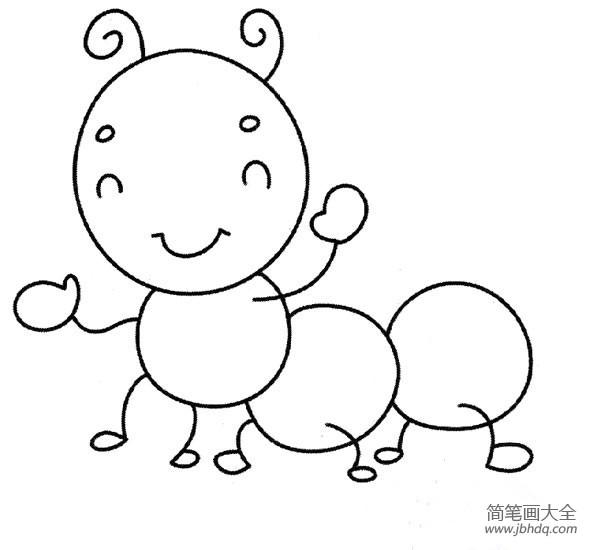 [毛毛虫简笔画颜色]萌萌哒的毛毛虫简笔画