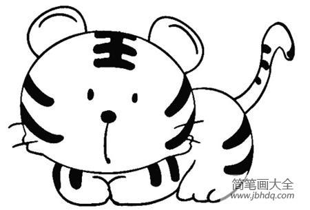 可爱老虎简笔画图片大全|可爱老虎简笔画