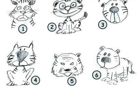 可爱的老虎简笔画图片大全|可爱的老虎简笔画