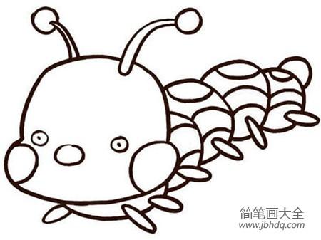 毛毛虫简笔画颜色_毛毛虫简笔画:毛毛虫的秘密简笔画