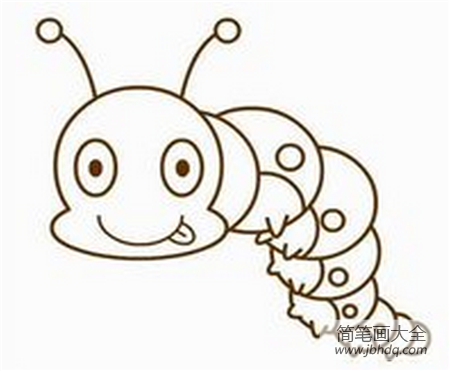 毛毛虫简笔画颜色|毛毛虫简笔画:毛毛虫,我的最爱简笔画