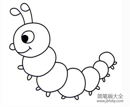 毛毛虫简笔画我怕毛毛虫简笔画|毛毛虫简笔画:我怕毛毛虫简笔画