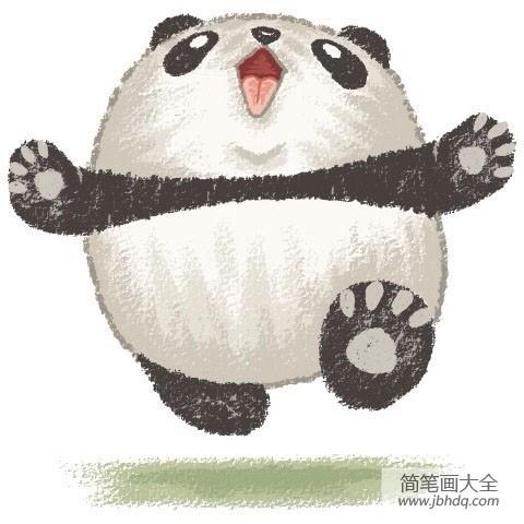 【活泼可爱的动物】可爱的动物漫画之大熊猫