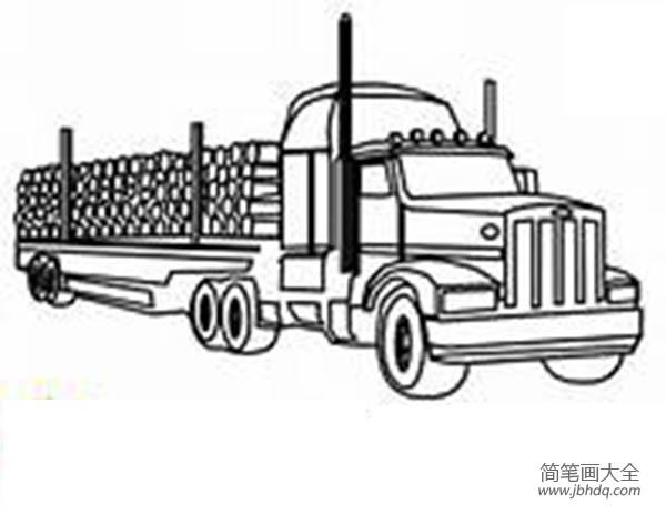 教小朋友画画|教小孩画大货车