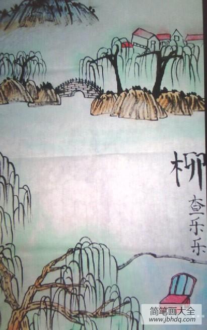 柳树怎么画|柳树