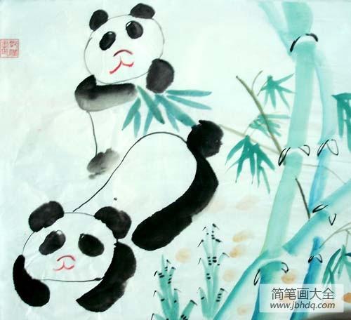 大熊猫没有黑眼圈图片|黑眼圈大熊猫
