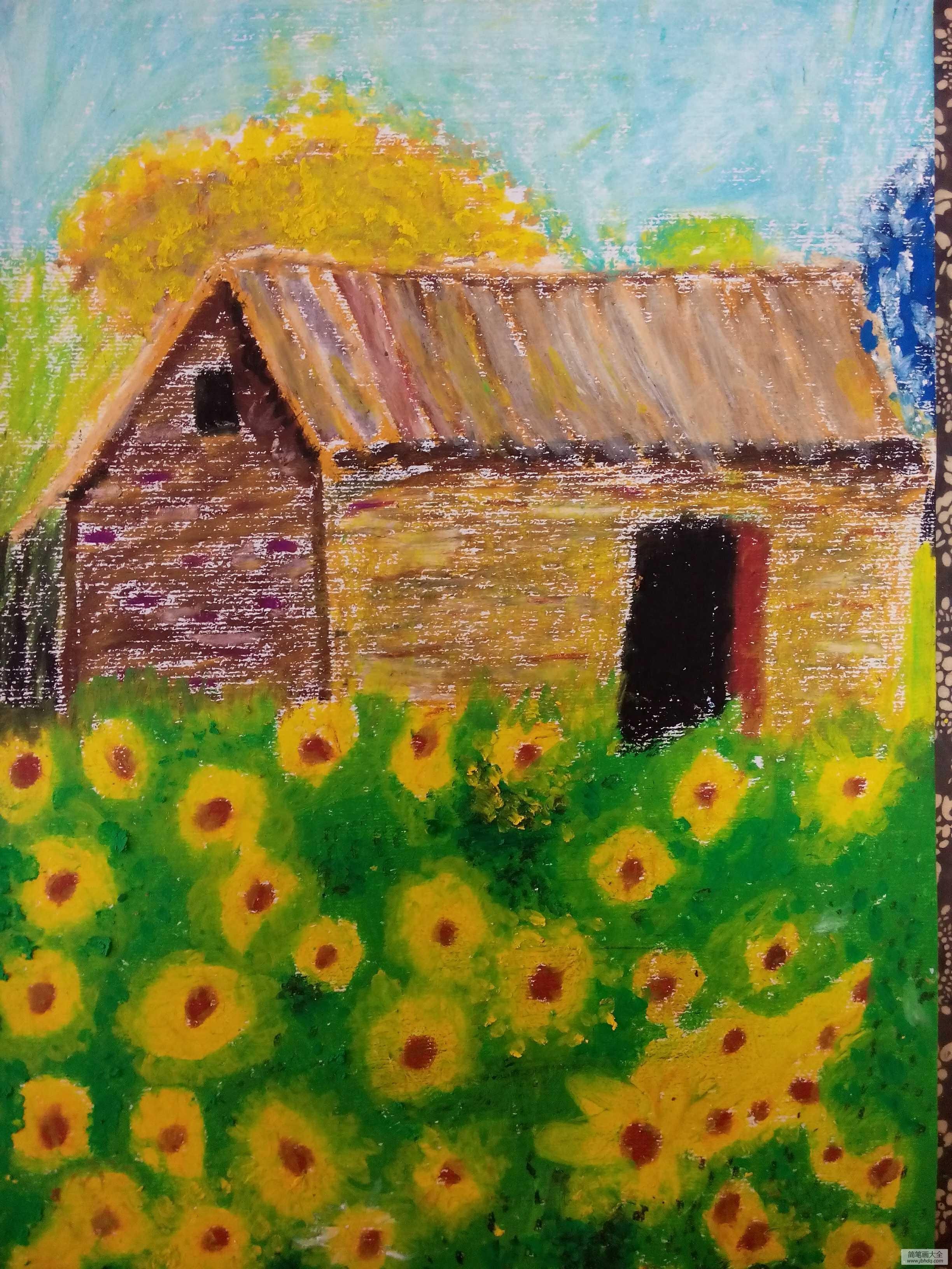 秋天的野菊花的作文_故鄉的野菊花,秋天兒童畫在線欣賞