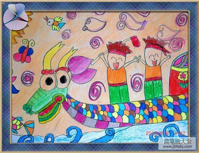 端午节有赛龙舟比赛_端午节赛龙舟儿童画-比赛胜利的欢乐