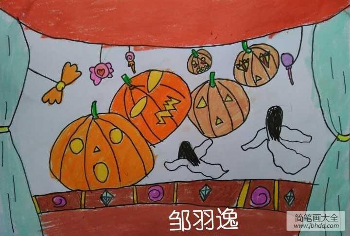 关于万圣节的英语作文|关于万圣节的儿童画,节日儿童画优秀作品