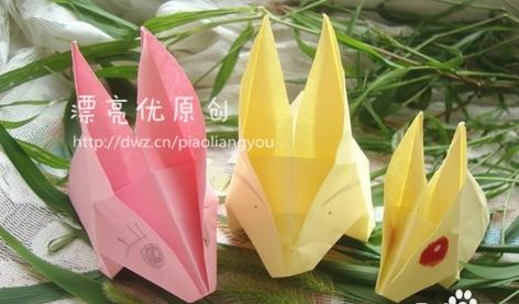 手工手工折纸大全_幼儿手工折纸:手工制作可爱的小兔子