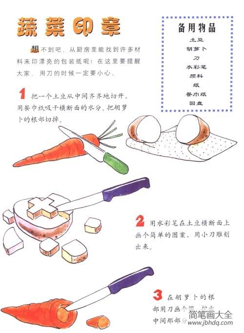 自制灯笼手工制作|幼儿手工制作:如何自制蔬菜印章