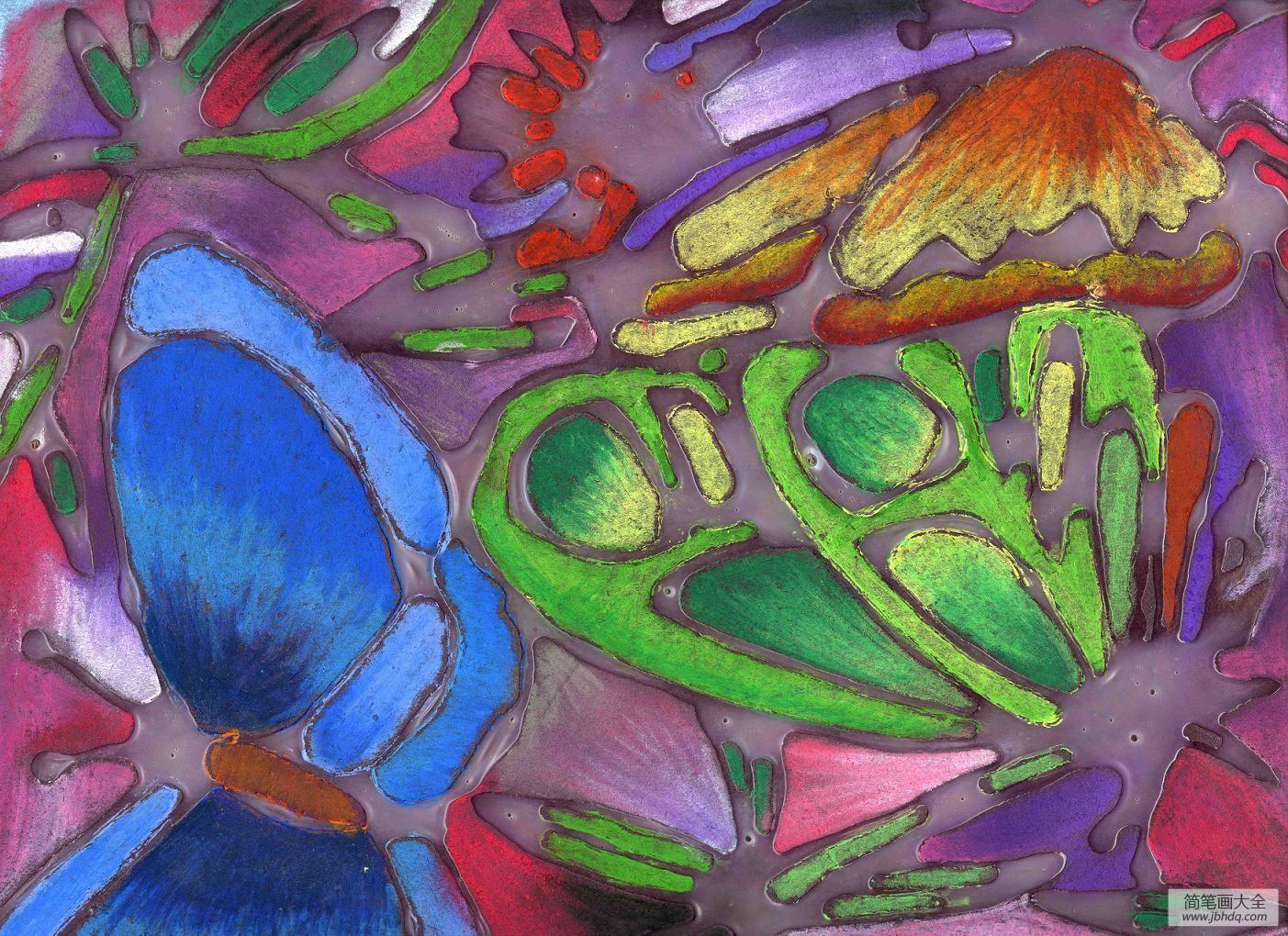 国外优秀海报_国外优秀儿童画-色彩斑斓的蝴蝶