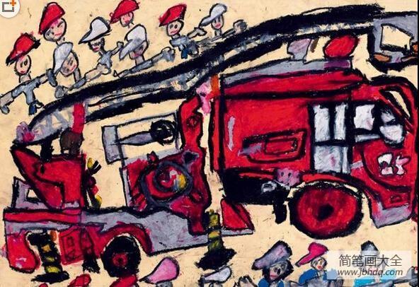 【树先生国外获奖】国外获奖儿童画作品-勇敢的消防员
