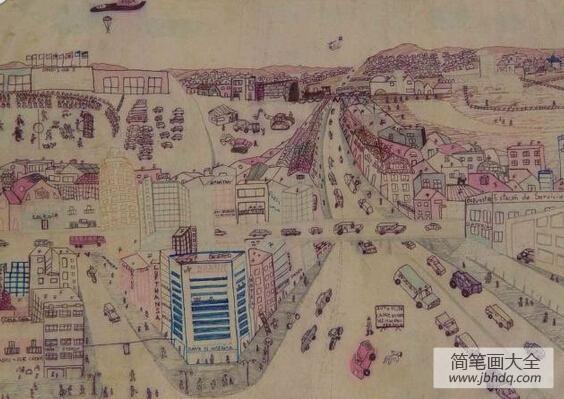 最新国外儿童绘画作品-美丽的城市