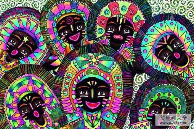 国外油画大师作品欣赏|国外儿童画作品欣赏-欢度节日