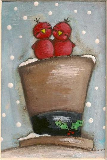 【取暖炉家用】取暖的小鸟国外绘画作品在线分享