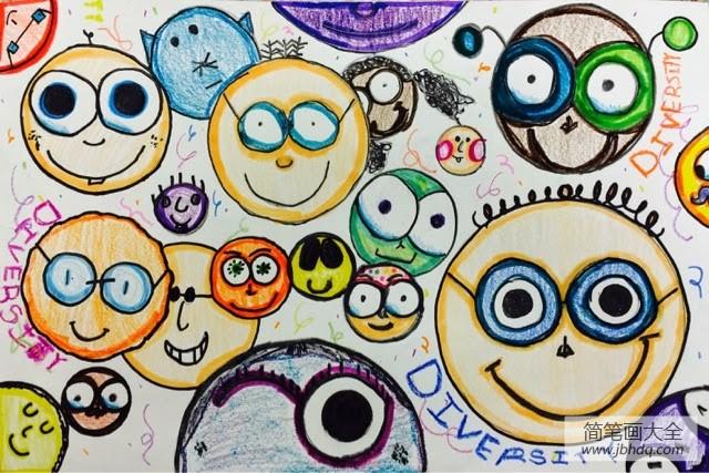 可爱的礼物_可爱的粒子儿童水彩画图片在线看