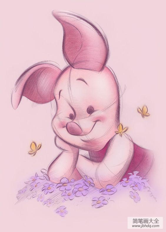 [小猪皮杰头像]小猪皮杰卡通彩铅画作品赏析