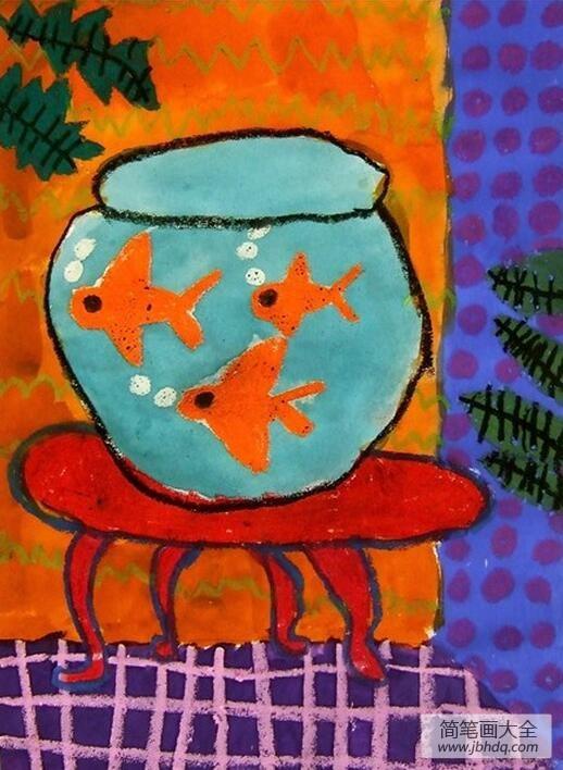 怎么喂鱼缸里的鱼儿|鱼缸里的鱼儿童画画图片大全