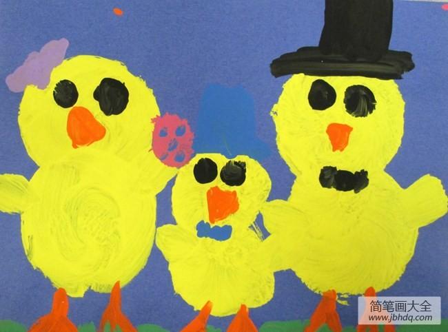 小黄鸡一家人关于动物一家人的画图片欣赏