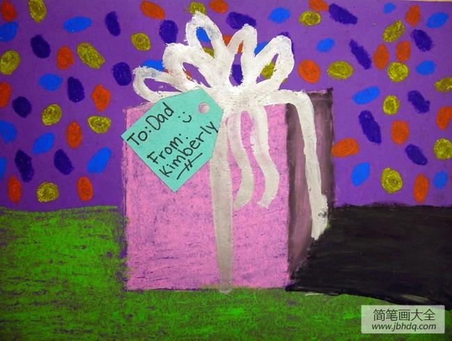 精美的礼物关于礼物的儿童画作品合集