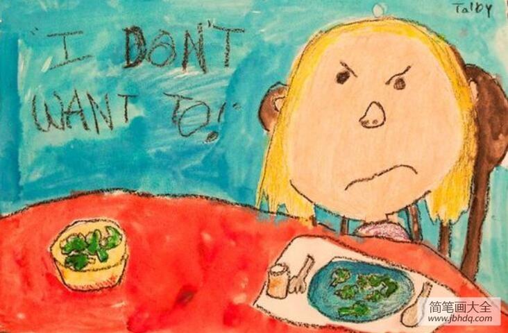 晚上几点不要吃东西了_请不要吃青蛙环保儿童画作品分享