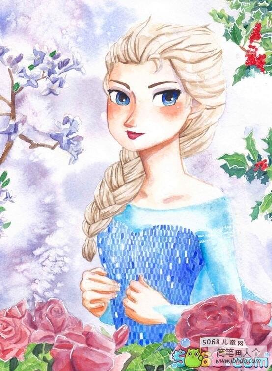 漂亮的艾莎冰雪奇缘画画图片大全_漂亮的艾莎冰雪奇缘画画图片欣赏