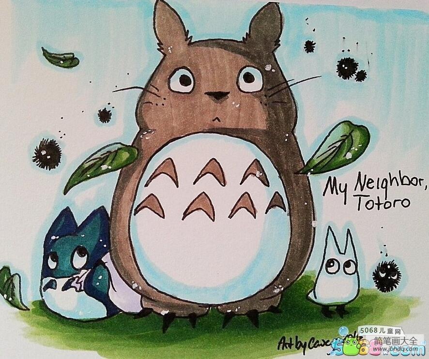 动漫手绘作品之可爱的龙猫