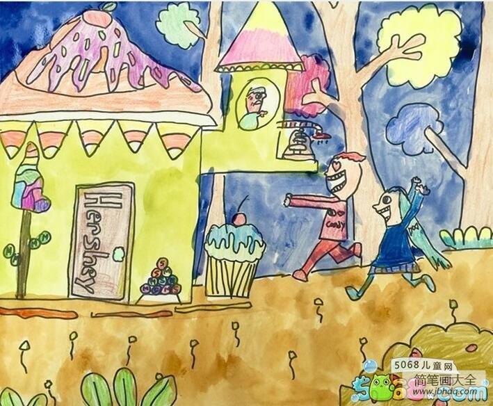 冰激凌小屋有关夏天的主题画作品欣赏