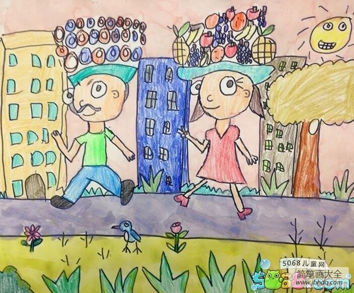 快乐的假期生活小学生暑假画图片展示