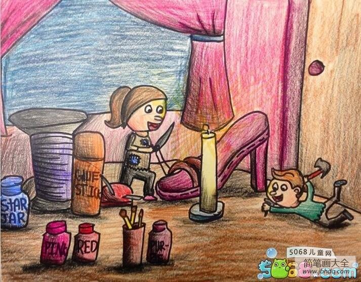 童话故事人物画作品之小鞋匠