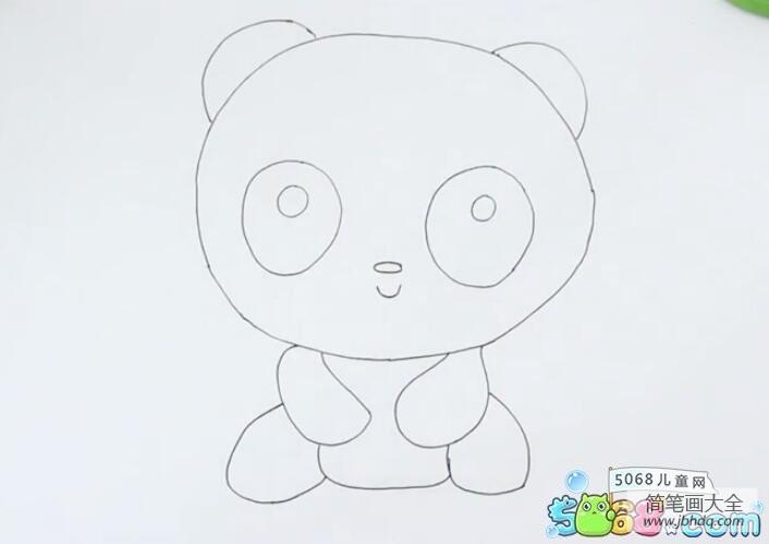 萌哒哒的图片|萌哒哒的大熊猫可爱动物儿童画教程分享