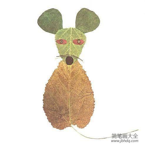 【树叶贴画用啥粘树叶】树叶贴画作品:树叶大聚会