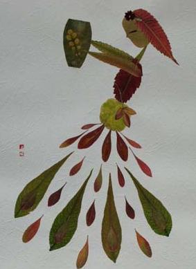 树叶贴画用啥粘树叶|树叶贴画作品:树叶贴画作品画