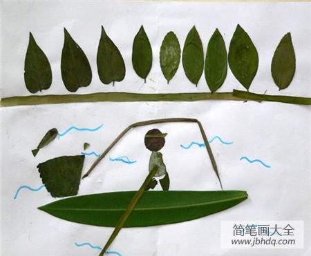 【树叶贴画作品一等奖】树叶贴画作品:叶子是大杨树最美丽的风景