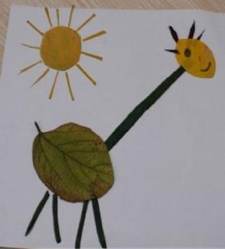 [树叶贴画作品一等奖]树叶贴画作品:农村生活