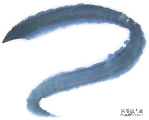 水墨林溪_水墨十二生肖巳蛇的绘画技法