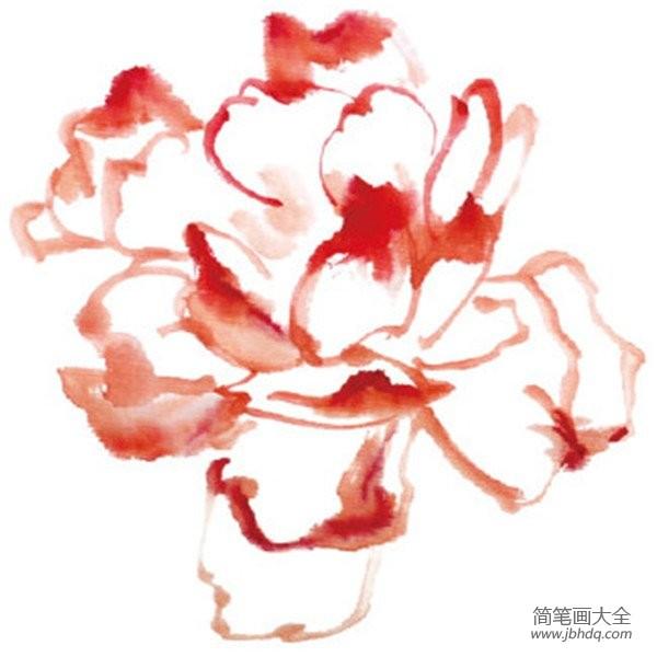 水墨雪_水墨月季花的绘画教程