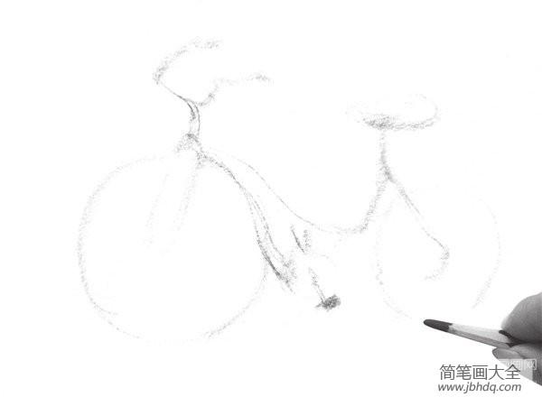 自行车速写图片|速写自行车的绘画技法