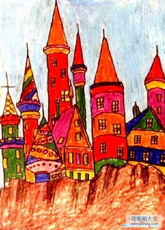 漂亮的房子第二季_漂亮的俄罗斯房子儿童画作品大全